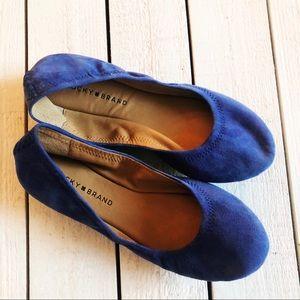 EUC Lucky Brand Blue Ballet Flats